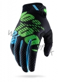 Rukavice 100% Ridefit Black-Lime