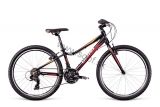 Bicykel Dema Pegas 24 Black-red-orange 2018