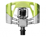 Pedále CRANKBROTHERS Mallet 2 Electric Lime/ Raw Silver