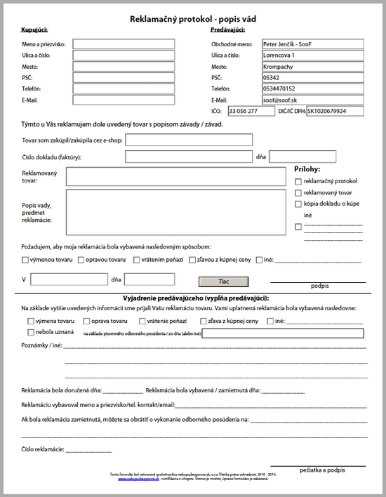nahlad reklamacny formular